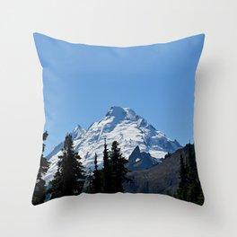 Snow Cap on the Mountain Throw Pillow