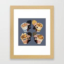 Cup Noodle Bros Framed Art Print