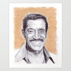 Sammy Davis Jr Pen Drawing  Art Print