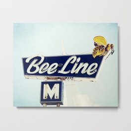 Bee Line Metal Print