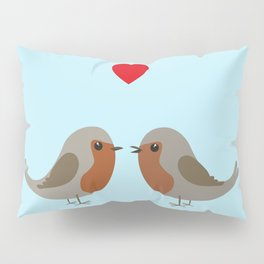 Two cute robins Pillow Sham