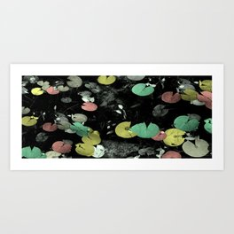 Lilly Pads with Color Toning Art Print