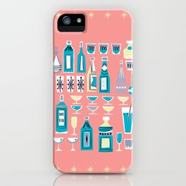 Cocktails And Drinks In Aquas and Pinks iPhone Case