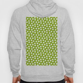 White Polka Dots on Fresh Spring Green - Mix & Match with Simplicty of life Hoody