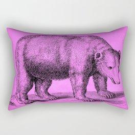Pink Bear Antique Engraving Rectangular Pillow