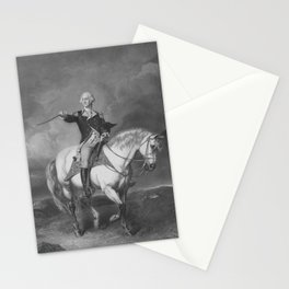 Washington Receiving A Salute At Trenton Stationery Cards
