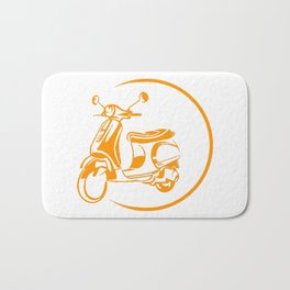 Scooter ilustration Bath Mat