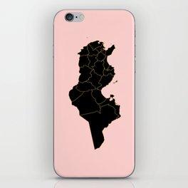 Tunisia map iPhone Skin
