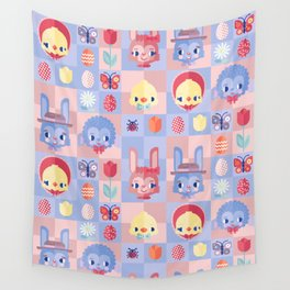 Happy Easter! Pattern Wall Tapestry