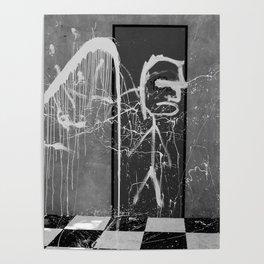 Graffiti noir et blanc Poster