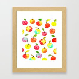 Spring apples Framed Art Print