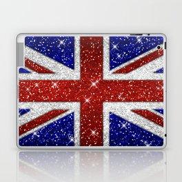 Glitters Shiny Sparkle Union Jack Flag Laptop & iPad Skin