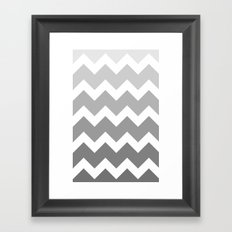 Chevron - Multi Grey Framed Art Print