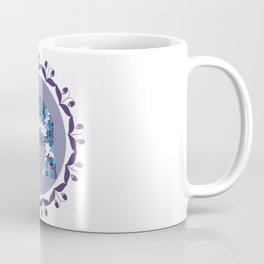 Elephant in lilac  background Coffee Mug