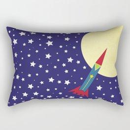 Rocket To The Moon Rectangular Pillow