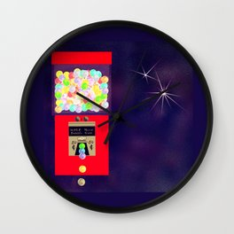 Super Moon Gumball Machine Wall Clock