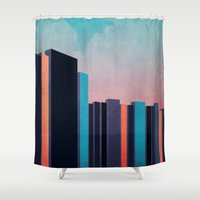 skyline Shower Curtains featuring Skyline by Nope