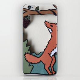 The Fox & The Grapes iPhone Skin