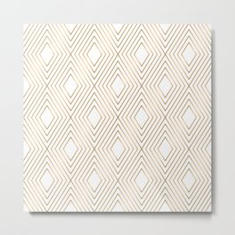 Elegant Geometric Gold Pattern Illustration Metal Print