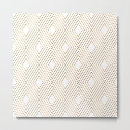 Elegant Geometric Gold Pattern Illustration Metal Print