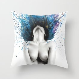 Touched Nude Painting Throw Pillow