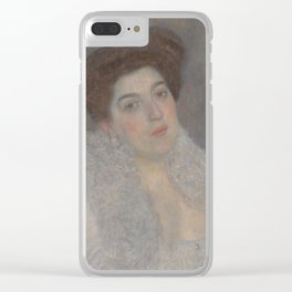 Portrait of Hermine Gallia Clear iPhone Case