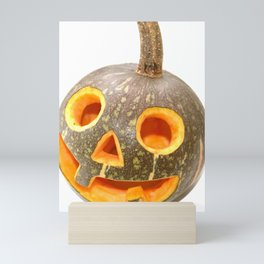 Halloween figurine of a small carved pumpkin Mini Art Print
