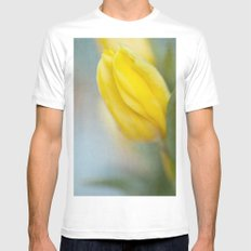 Almost Spring MEDIUM White Mens Fitted Tee