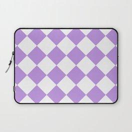 Large Diamonds - White and Light Violet Laptop Sleeve