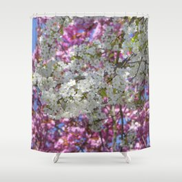Colourful Blossoms Shower Curtain
