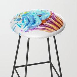 Cupcake watercolor illustration Bar Stool