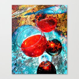 Wine glasses art vs 3 Canvas Print