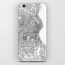 Milwaukee White Map iPhone Skin