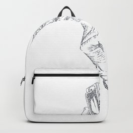Abstract Harmonica Illustration Backpack