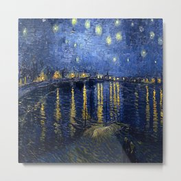 Vincent van Gogh's Starry Night Over the Rhone Metal Print