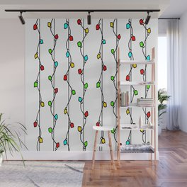 String of Old Fashion Lights - Doodle - Color Wall Mural