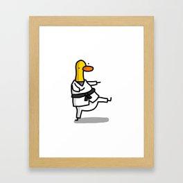 Karate Duck   Veronica Nagorny Framed Art Print