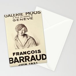 locandina francois barraud galerie moos Stationery Cards
