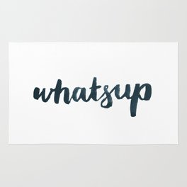 Whatsup - White Rug