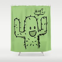 hug Shower Curtains featuring Hug? by UNDeRT4keR