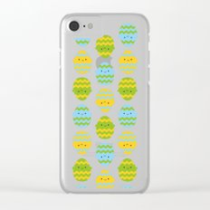Kawaii Easter Eggs Clear iPhone Case