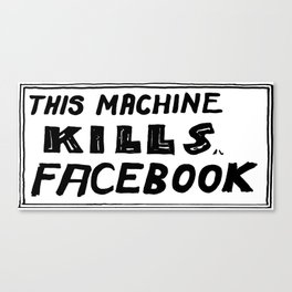 This Machine Kills Facebook Canvas Print