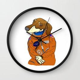 Dachshund Curiosity Rover Wall Clock