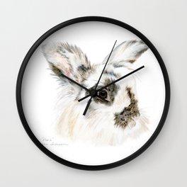 Pixie the Lionhead Rabbit by Teresa Thompson Wall Clock