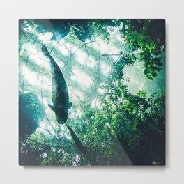 Glass Sea v. Synthetic Rainforest Metal Print