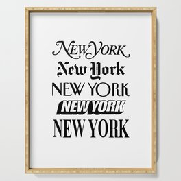 I Heart New York City Black and White New York Poster I Love NYC Design black-white home wall decor Serving Tray