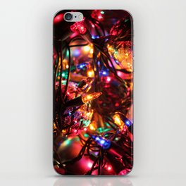 Colored Christmas Lights iPhone Skin
