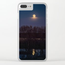 Supermoon Reflected Clear iPhone Case