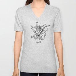 Logres Dragon Unisex V-Neck