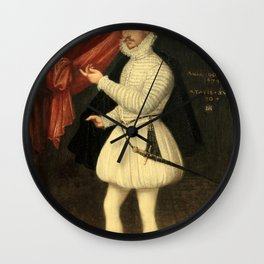 Monogrammist LAM - Portrait of a Man in White Wall Clock
